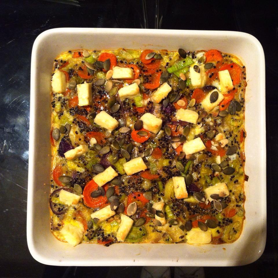 Versatile Veggie Frittata with Feta Cheese