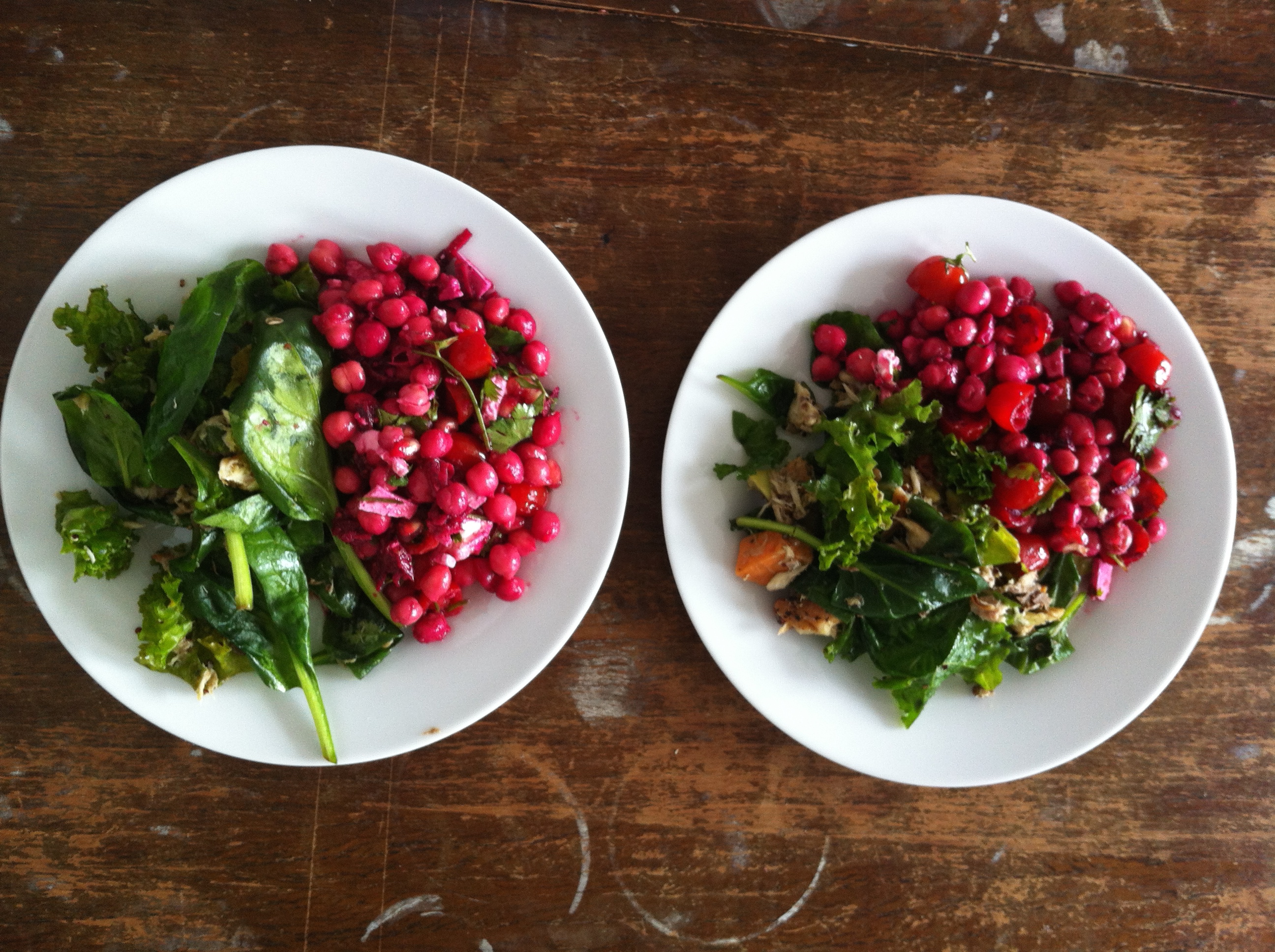 Summer Chickpea, Cherry Tomato and Beetroot Salad